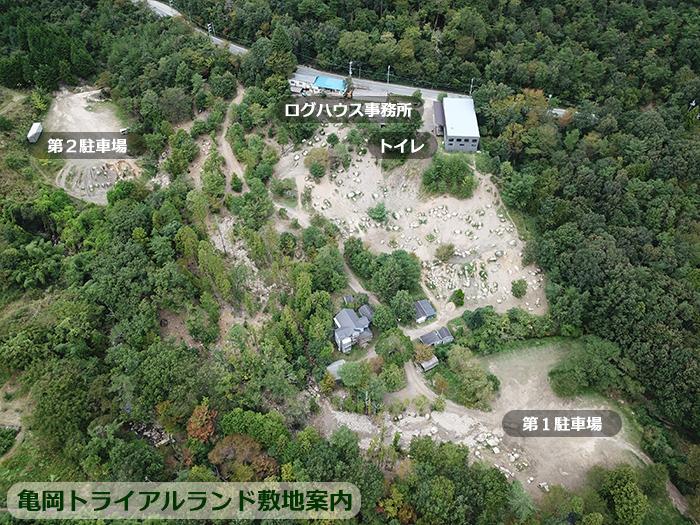 亀岡トライアルランド敷地内案内図