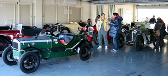 The first run of vintage cars in Suzuka