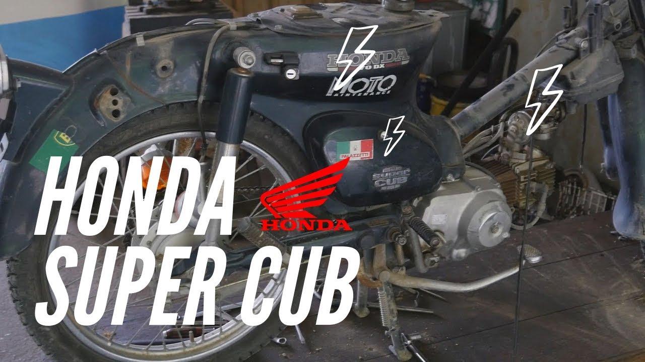 【HONDA Super Cub】スーパーカブをオフロードカスタムする。トライアルできるように魔改造する!その1