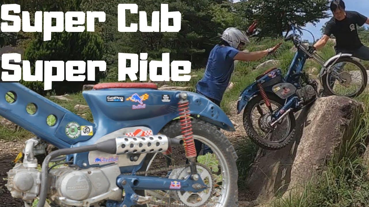 Super Cub C70 Super Ride トライアル国際A級が原付カブをカスタムするとこうなる。神業