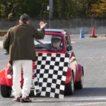 ルパン3世の愛したFIAT500も走ってた!名阪スポーツランドで開催されたラヴォイタ行ってきました。クラシックカーのジムカーナです。